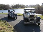 1946 Rover Fourteen P2 and 1929 Essex Super Six Challenger at a wedding in March 2010