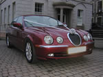 Metallic Red Jaguar S-Type