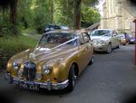 Jaguar S-Type and 1967 Jaguar Mark 2 at a wedding in August 2010