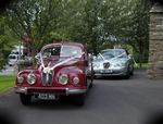 1954 Bristol 403 and Jaguar S-Type at a wedding in July 2010