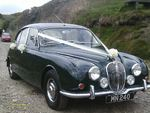 1967 British Racing Green Jaguar Mark 2 at a wedding on 21 April 2012