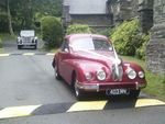 1946 Rover Fourteen P2 and 1954 Bristol 403 at a wedding on 23 June 2012
