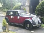 1946 Rover Fourteen P2 at a wedding on 23 June 2012