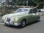 1967 Daimler 2.5 V8 in Willow Green at a wedding on 14 July 2012