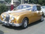 1967 Jaguar Mark 2 in Metallic Gold at a wedding on 14 July 2012