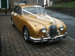 1967 Jaguar Mark 2 at a wedding in December 2013