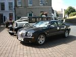 1929 Essex and Chrysler 300 Saloon at a wedding in August 2013