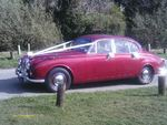 Daimler V8 in Regency Red at a wedding in April 2014