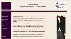 Jonathan Daniel's: Specialists in evening wear and wedding outfit hire www.jonathan-daniels.com