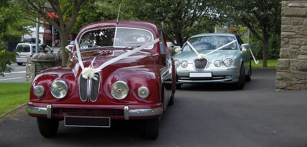 Bristol 403 and modern Jaguar S-Type